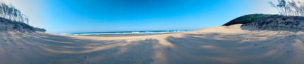 360° panorama of the beach at Sodwana Bay, South Africa