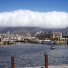 Capetown. Table Mountain in the clouds