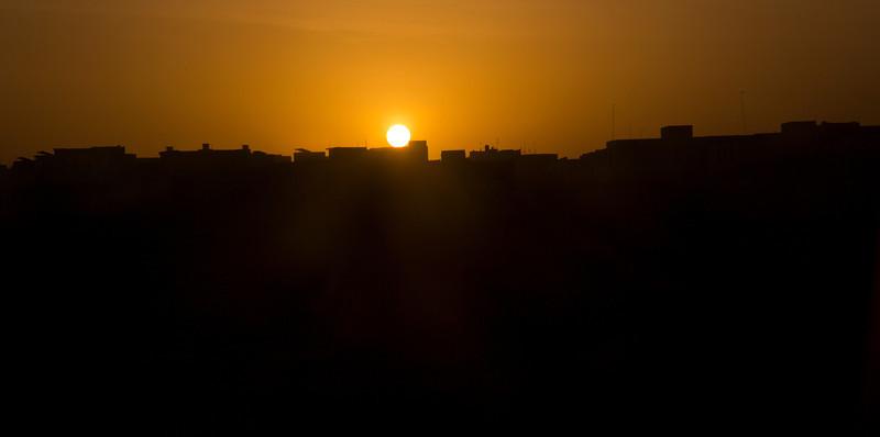 Sunrise in Dakar, Senegal