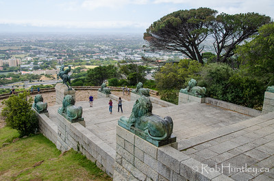 Staircase and Lion Statues at Rhodes Memorial