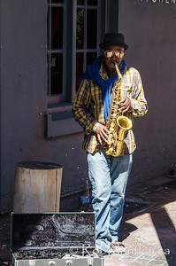 Busker at the Old Biscuit Mill