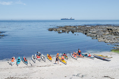 Kayaks at Sea Point, Cape Town