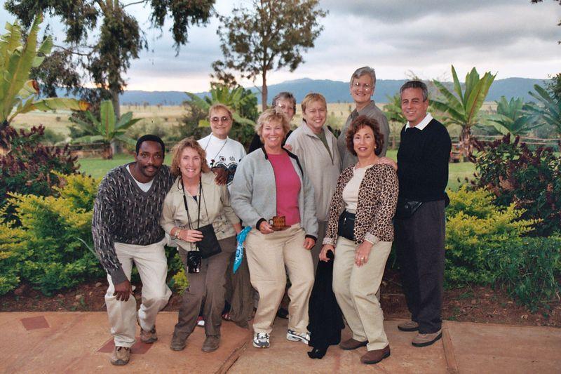 Ngorongoro Farmhouse. Some of our Group...Allen, Eve, Liberty, Sue, Aleida, Lucy, Linda, Ronnee, Larry