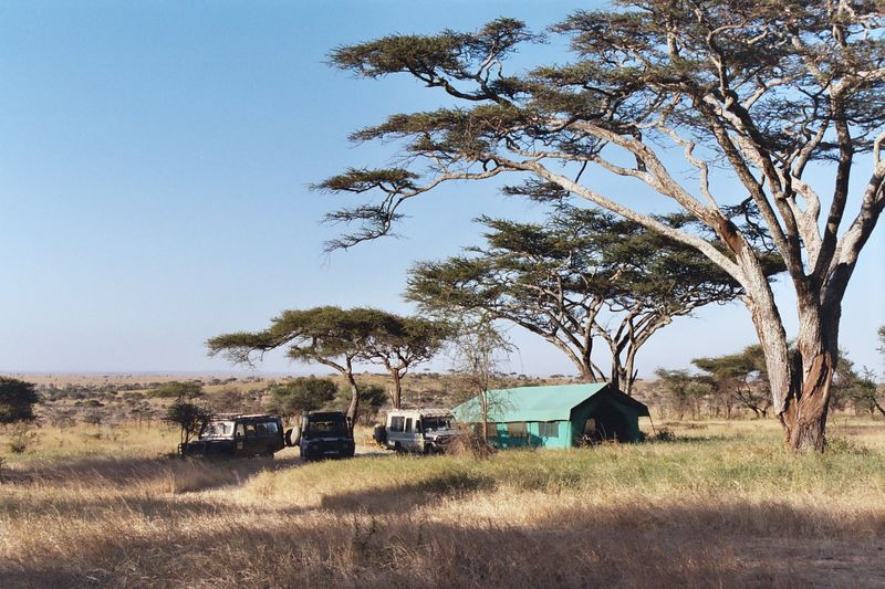 Serengeti NP - Mobile Tented Camp and Vehicles