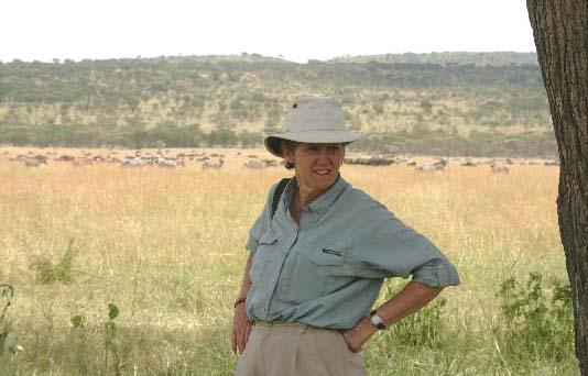 Sharon in the Serengeti