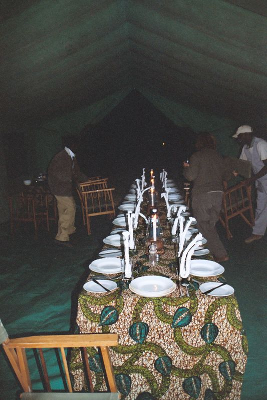 Serengeti NP - Setting Up the Dining Tent