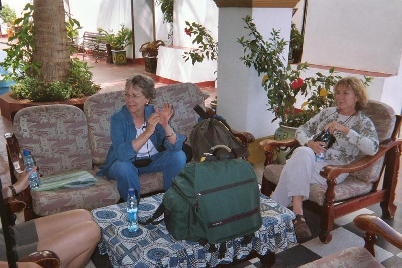 Aleida and Eve Waiting To Leave Stonetown.