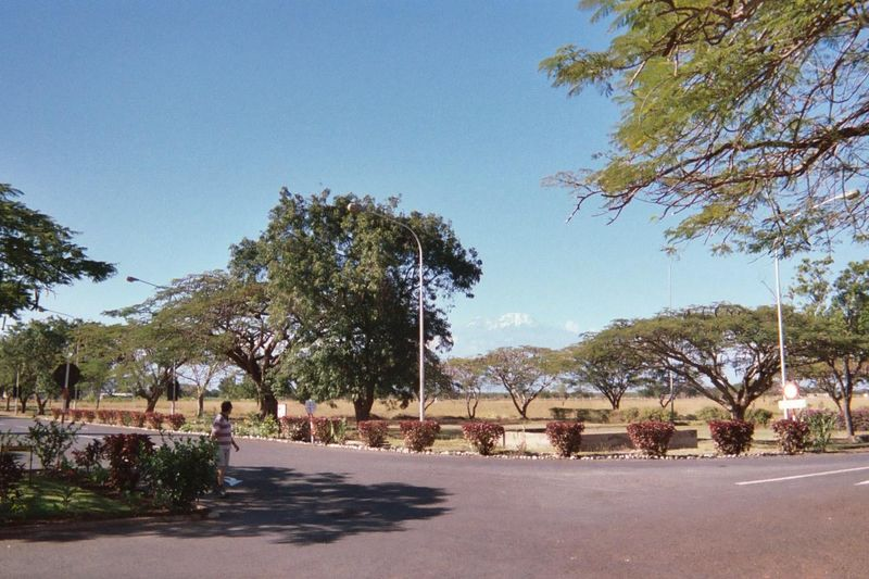 Kilimanjaro Airport Entrance and the Mountain In the Background
