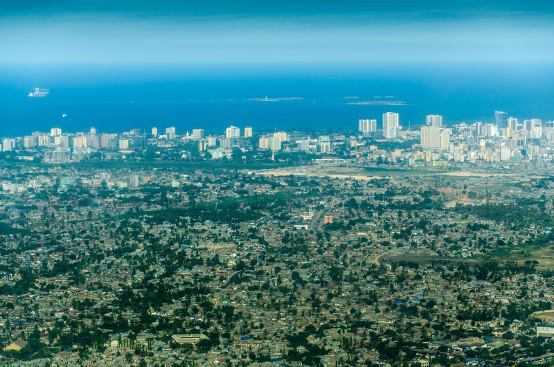 Flying Over Dar Es Salaam