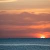 Sunset over the Indian Ocean as seen from a beachfront in Stone Town, Zanzibar.