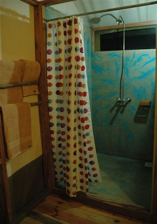 Shower at Lake Burunge Tented Camp