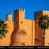 Northern Africa - Tunisia - Monastir - المـنسـتير - Al-Munastîr - Excellent sandy beaches on shores of Mediterranean Sea & reliable sunshine make it a popular Tunisian tourist resort - Ribat monastery - Monastery-fortresses - Defensive fort built to withstand Christian invasions, as well as important centres of Islamic learning