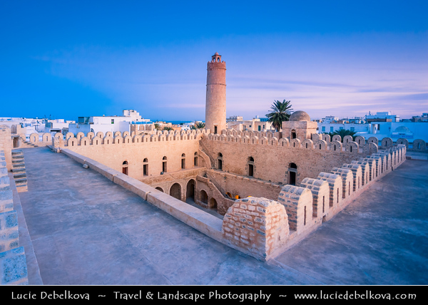 Northern Africa - Tunisia - Sousse - سوسة - Sūsa - Susa - Medina of Sousse - Old Town - UNESCO World Heritage Site - Historic Medina - Old Town - Sousse Ribat - Small fort built in 8th century featuring tower for scenic views