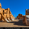 Northern Africa - Tunisia - Tataouine district - Ksar Ouled Soltane - قصر أولاد سلطان ‎- Fortified multi-story vaulted granary cellars - ghorfas - Famous Tunisian location featured in the film Star Wars: The Phantom Menace