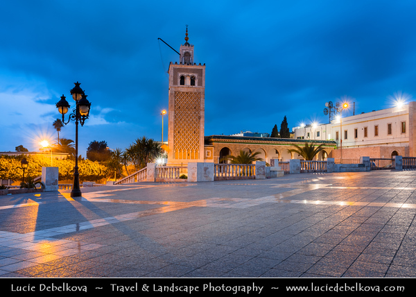 Northern Africa - Tunisia - Tunis - تونس - Tūnis - Capital City - Medina of Tunis - UNESCO World Heritage Site - From the 12th to the 16th century, Tunis was considered one of the greatest and wealthiest cities in the Islamic world - Place de la Kasbah - Huge square with Monument to independence