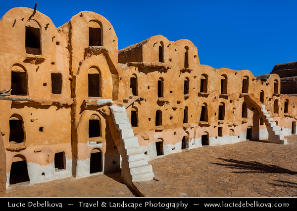 Northern Africa - Tunisia - Tataouine district - Ksar Ouled Soltane - قصر أولاد سلطان - Fortified multi-story vaulted granary cellars - ghorfas - Famous Tunisian location featured in the film Star Wars: The Phantom Menace