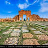 Northern Africa - Tunisia - Sbeitla - Ancient Temples in one of North Africa's best preserved ancient Roman cities, awash with temples, monumental arches and bath complexes that speak of an ancient civilization that really knew how to live