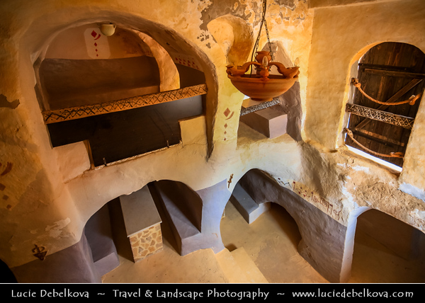 Northern Africa - Tunisia - Tataouine district - Ksar Heddada - Hadada - Fortified multi-story vaulted granary cellars - ghorfas - Famous Tunisian location featured in the film Star Wars: The Phantom Menace