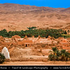 Northern Africa - Tunisia - The Sahara Desert - الصحراء الكبرى‎ - Atlas Mountains - جبال الأطلس‎ - Mountain range across a northern stretch of Africa - Tozeur Governorate - Tamerza - Historical Berber village
