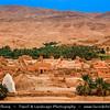 Northern Africa - Tunisia - The Sahara Desert - الصحراء الكبرى - Atlas Mountains - جبال الأطلس - Mountain range across a northern stretch of Africa - Tozeur Governorate - Tamerza - Historical Berber village