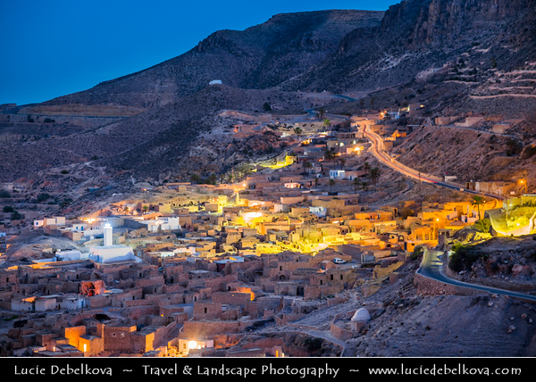 Northern Africa - Tunisia - Toujane - توجان - Ancient ruined Berber village in a mountain valley