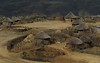 A typical village in Lesotho, the thatched roofs have a life expectancy of about five years.