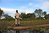 Luke, guiding our group, on the look out for hippos..not a good thing in a mokoro.