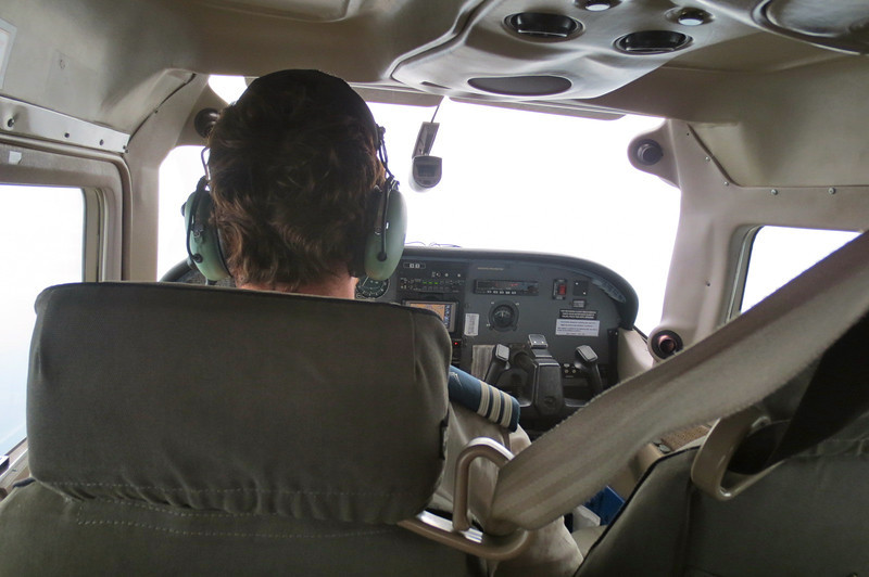 Our bush pilot to Vumbura Plains camp…looked all of 24.  Excellent smooth flight for just the 2 of us.
