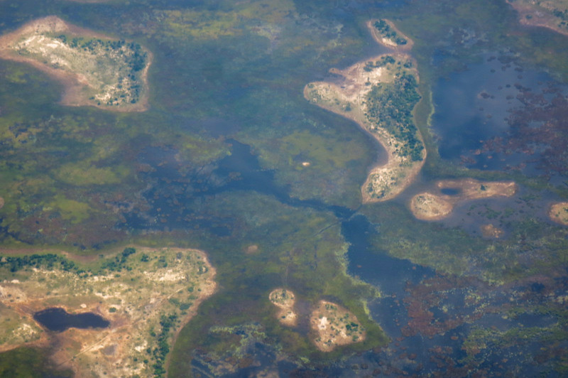 Islands in the Okavango Delta.