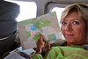 Checking out the map of the Okavango Delta.