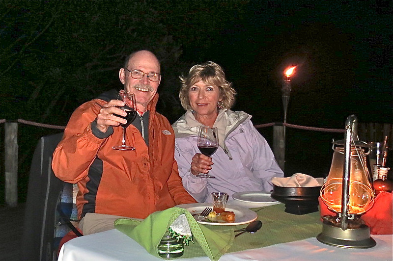 A surprise private dinner on the star-gazing deck.