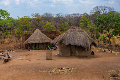 Zambia A typical small village in Zambia.