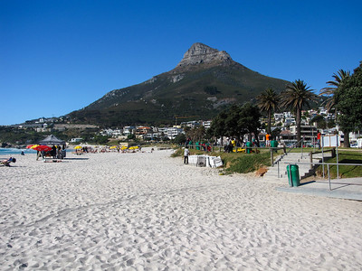 Lion's Head, seen from the beach in Camp's Bay.