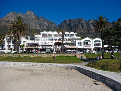 Table Mountain, seen from the beach in Camp's Bay.