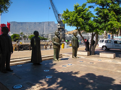 The Nobel Peace Prize sculpture in the V&A Waterfront.