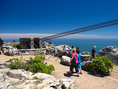 The top of Table Mountain. This is where the cables that support the cableway are anchored.