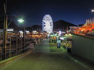 The V&A Waterfront with Lion's Head and Table Mountain in the background.