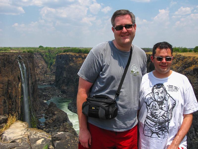 Steven & Brian at Victoria Falls
