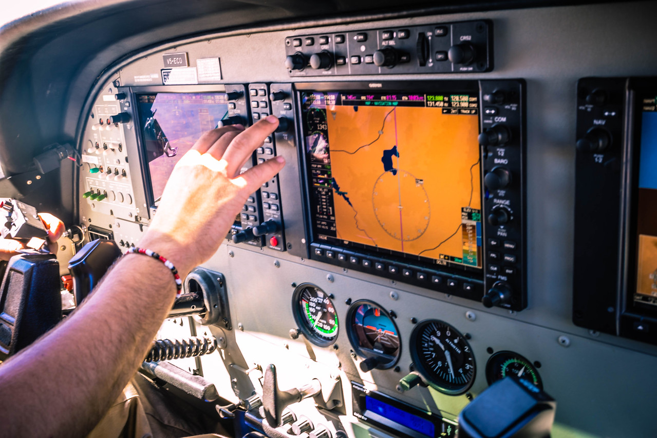 Glass cockpit by Garmin,
