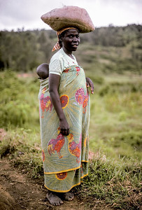 Rwandan woman and child