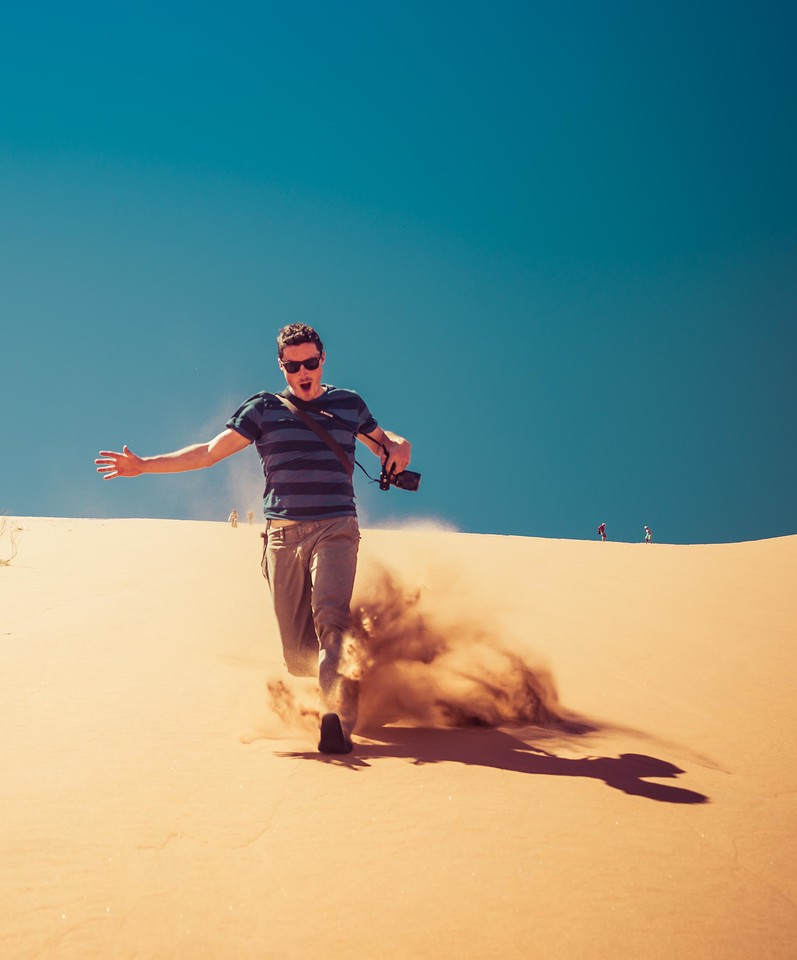 Trey Ratcliff took this photo on the way down the big dune.