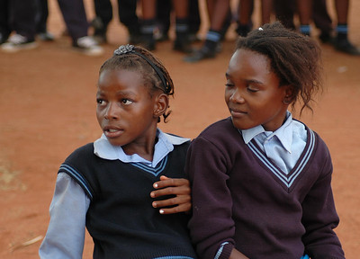 Two School Girls, Pokanong Primary School, Limpopo Province, South Africa