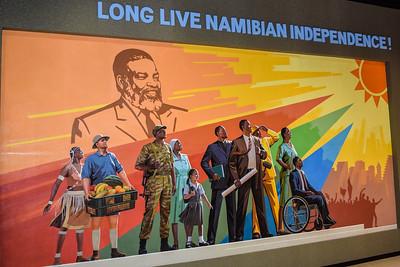 Mural, Independence Memorial Museum, Windhoek, Namibia