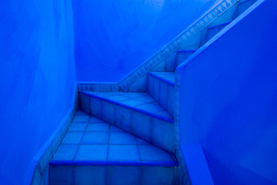 Stairway - Chefchaouen, Morocco