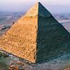Pyramid of Chephren at sunrise
