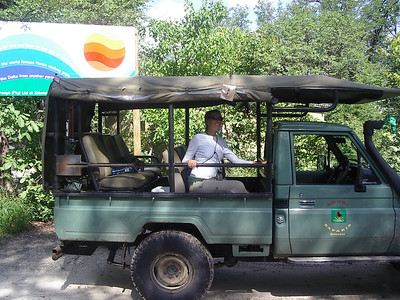 Tanya on a safari.