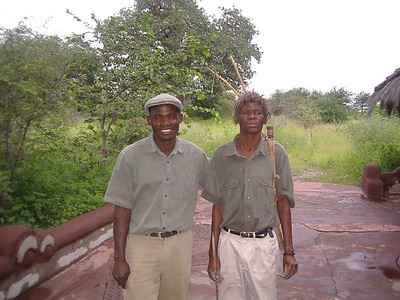 Our African bushman Cobra tourguide, and his translator.