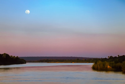 Full moon over Zambezi