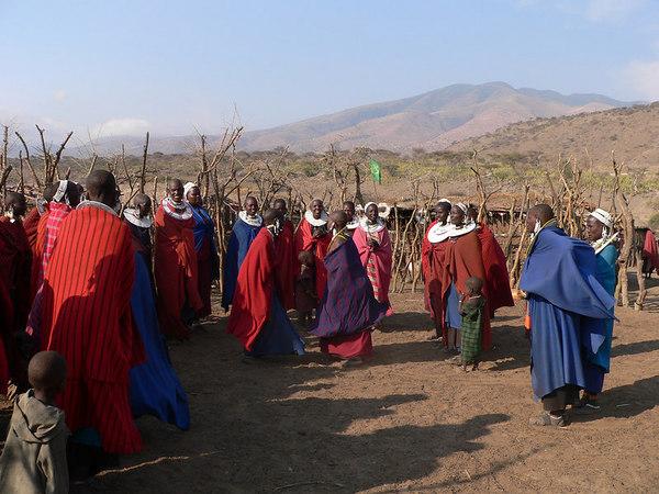 Masai women dancing