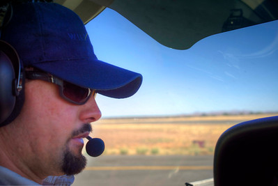 Xander our pilot for most of the trip concentrating on takeoff.